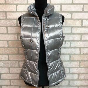NWT Calvin Klein Silver Vest